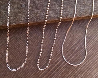 Sterling Silver Chains as Add On to Purchase