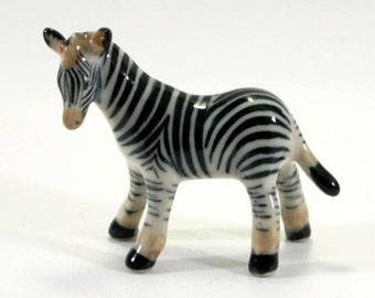 Zebra   - handpainted porcelain figurine  - 2865