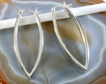 Hoops 925 sterling silver  --  3457
