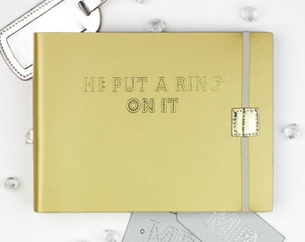Small Recycled Leather 'He Put A Ring On It' Photo Album
