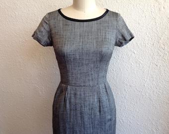 1960s Classic gray dress