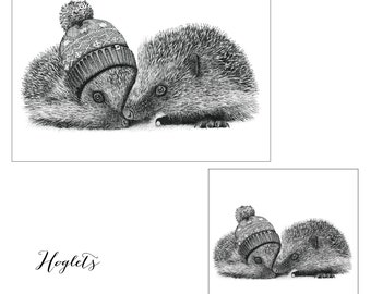 Hand Drawn 'Hoglets' Limited Edition Prints