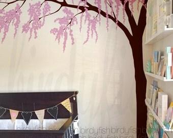Cherry Blossom Tree Decal, Nursery Wall Sticker, Wall Decor, Home Decor -Children girl baby wall decals Wall Murals