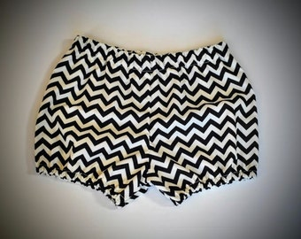 Black and White Chevron Bloomers 18-24M Ready to Ship Sale!