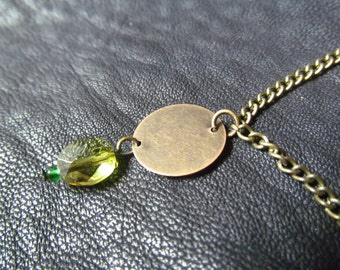 Green Gum Drop Necklace