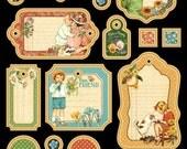 Graphic 45 Children's Hour Journaling Chipboard 1, SC007581
