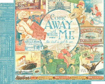 CLEARANCE SALE!  Graphic 45 Come Away With Me 12x12 Paper Mega Kit
