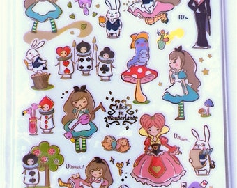 Sticker Alice in Wonderland (A 1017)