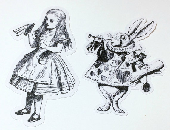 Die Cuts - Alice in Wonderland ,Alice in Wonderland Party,Alice Cut Outs,Scrapbooking,Paper Embellishments,Scrapbooking Die Cuts,Alice Party