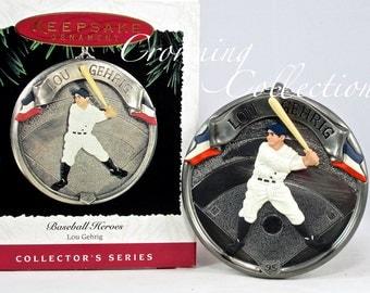 1995 Hallmark Lou Gehrig Baseball Heroes 2nd in Series Keepsake Ornament New York Yankees Christmas Vintage