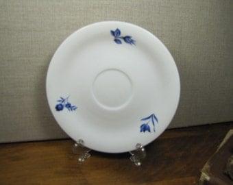 Vintage Saucer - Blue Leaf and Flower - Vohenstrauss - Johann Seltmann - Bavaria