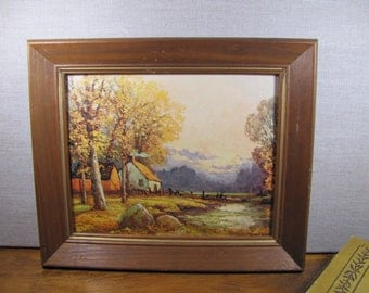 Painting - A Cabin in the Woods - Fall Scenery - Robert Wood