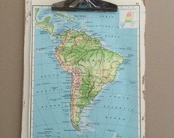 8x10 antiqued map board