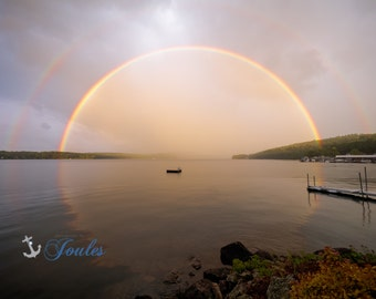 Limited Edition ~ Circle of Life ~ Church Landing ~ Lake Winnipesaukee, Meredith, New Hampshire, Fine Art Canvas, New England, Rainbows