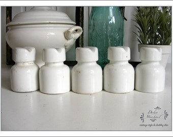 vintage - old porcelain insulators