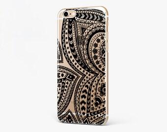 Black White Mandala iPhone Case Butterfly iPhone 7 Plus Case iPhone 6 Clear Mandala iPhone 7 Case iPhone 6 Plus iPhone SE Case iPhone 4-5