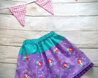 Girls Mermaid Twirl Skirt Handmade Age 3 to 4 years