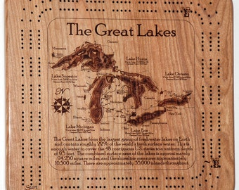 Great Lakes 3 Player Cribbage Board