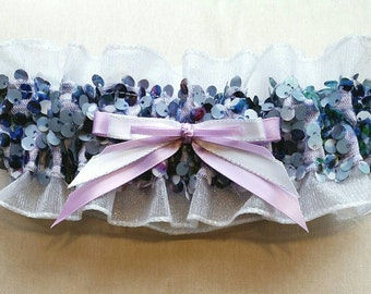 Ombre Sequin and Lavender Prom Garter