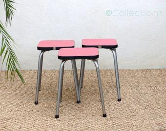 Stools red vintage - Mid century English stool