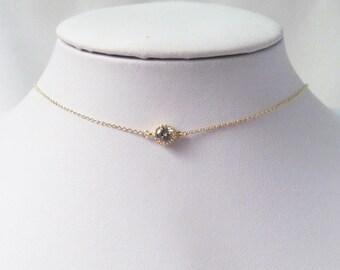 dainty choker necklace,delicate choker necklace,  thin choker necklace, chain choker necklace, choker collar necklace, gold choker necklace,