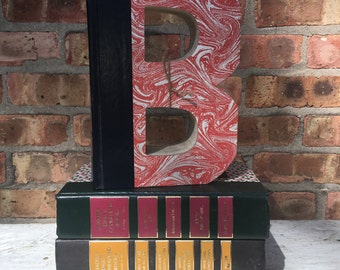 BOOK LETTER B..Custom Made Just For YOU!!!!  Letters created from actual Hardcover Books!
