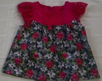Hot pink top and layered skirt - Size 6