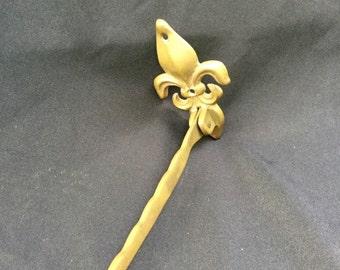 Fleur de Lis vintage Decorative door stop brass  hardware