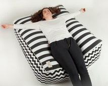 oversized floor pillow, bohemian pillow,beanbag chair, decorative pillow,XL CUSHION