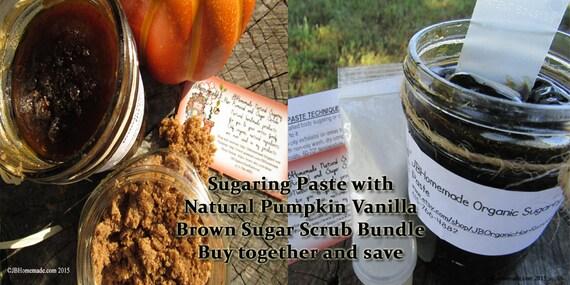 Sugaring Paste & Pumpkin Vanilla Sugar Scrub Body Polish Bundle Save 10% by JBHomemadeShop
