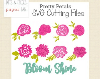 Pretty Petals Flower Blossoms: SVG Cutting Files