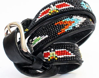 Women's, Vintage, Native American Style, Seed Beaded Belt