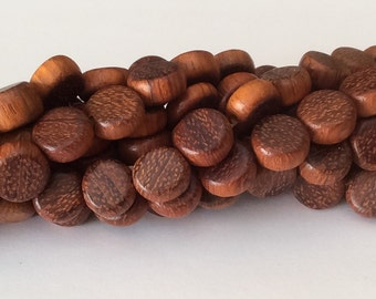 Coin Wood Beads, Bayong Wood Beads, Natural Wood Beads 10mm