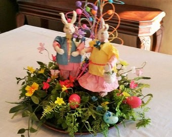 Easter Centerpiece - Easter Table Centerpiece - Easter Table Decor - Spring Table Decor - Spring Arrangement - One of a Kind - Ready to Ship