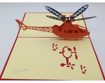 3D Pop Up Helicopter Card