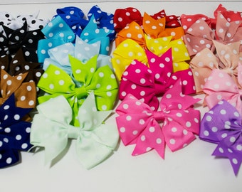 Small Polka Dot Hair Bows