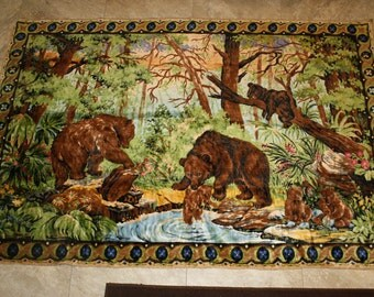 Large bear rug or tapestry