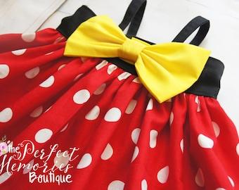 Classic Minnie Mouse Dress | Minnie Birthday Party | Girls Dress | Disney World | Birthday Dress | Disney Vacation | Disney Dress