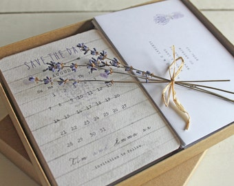 Lavender Save the Date Cards - SAMPLE