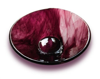 Bowl, Bowl, Bowl glass round Burgundy