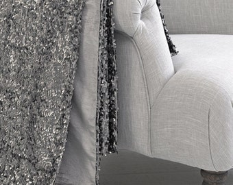 Luxury Silver Gray Sequin Throw Blanket
