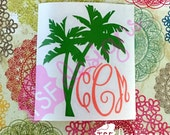 Palm Tree with Name\Monog...