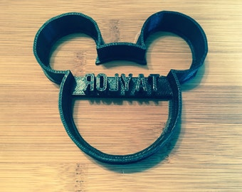 Custom Mickey Mouse Cookie Cutter and Fondant Cutter,Personalized,Minnie Mouse,Name,Birthday,Party,School,Summer,Cookies,Baking,Cupcake