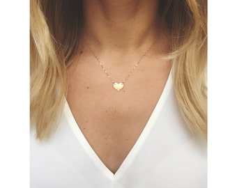 Small heart Necklace/ Dainty Heart Necklace / Gold Filled Heart Necklace