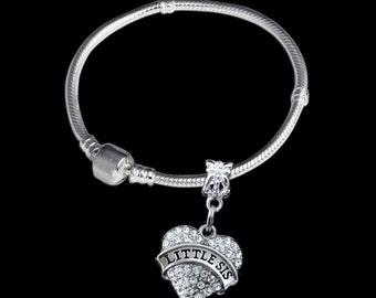 Little sis bracelet Little sis Charm Little sis gift Little sis Jewelry Little sister Bracelet Little sister Charm Little sister gift best s