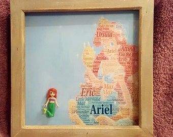 Personalised Princess Mini Figure Frames - Ideal for Christmas
