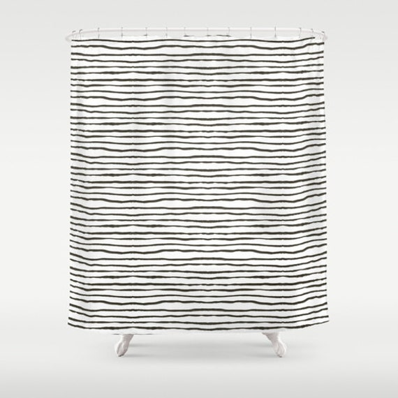 Black And White Stripe Shower Curtain Bathroom Shower Curtain