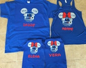 Disney Mickey and Minnie Mouse Star Wars Family Vacation T-Shirt Flowy Tank Disnyland Shirt, Disney Shirt, birthday shirt, cruise