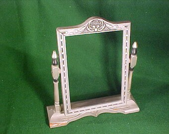 """Vintage Hollywood Regency  Style Picture Frame  7 1/8"""" x 5 1/8"""" Inset for Photo"""