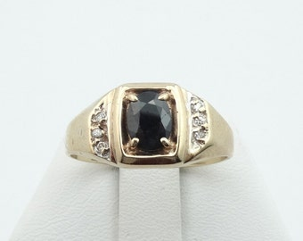 14K Yellow Gold Ring 2.26ct Cobalt Blue Spinel Bordered by Diamonds  #14YCOSPN-GR3